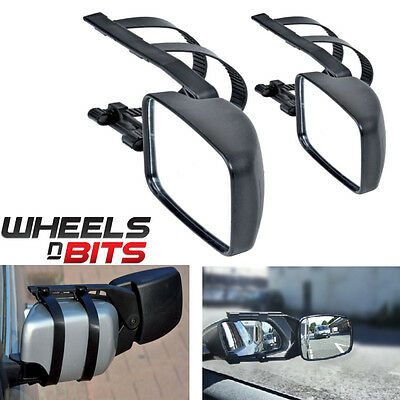 2 X Caravan Towing Mirror Extension Car Wing Mirrors For Both Driver + Passenger • 17.99£