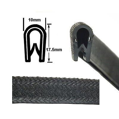 Large Black Car EDGE TRIM SEAL - Interior & Exterior - PVC Rubber Van Boat Truck • 2.99£