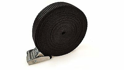 6 Buckled Straps 25mm Cam Buckle 5 Meters Long Heavy Duty Load Securing 250kg • 7.89£