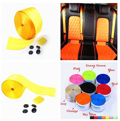 High Quality 380cm Adjustable Yellow 3 Bolt Point Safty Seat Belt For Auto Car   • 11.27£