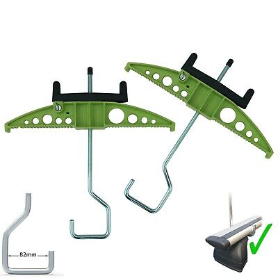 Van Ladder Clamps WIDE HOOK - Ideal For Thule Wing Bars Wingbars Evo Easy-Clamp • 49.85£