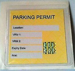 1 X  Self Adhesive Backed Windscreen Ticket Holder For Parking Permit 100X100mm • 1.45£