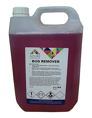 Azure Bug Remover Glass Trim Paintwork Bugs Tar Bird Lime Concentrated - 5L • 14.99£