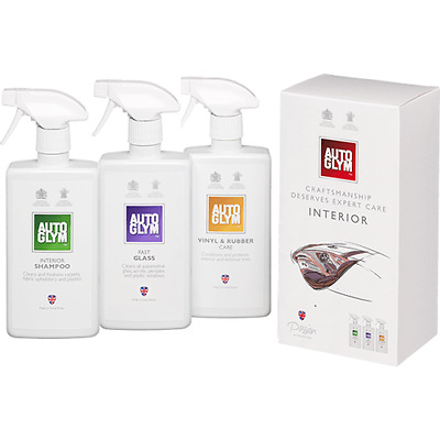 Autoglym Perfect Interior Collection Gift Kit Interior Shampoo Fast Glass Vinyl  • 19.99£