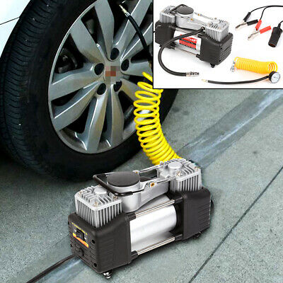 Heavy Duty 12v Electric Car Tyre Inflator 100psi Air Compressor Pump Uk	 • 23.99£