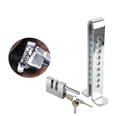 Auto Car Brake Clutch Pedal Lock Stainless Anti-Theft Strong Security Silver • 9.29£