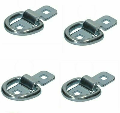 HandyStraps Lashing Dee Rings And Cleats 4 X 1.5 Ton Zinc Plated Tie Downs Hooks • 4.62£