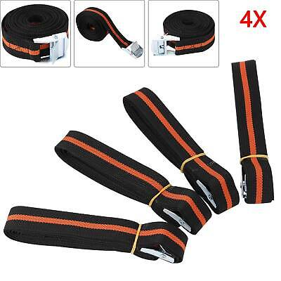Pack Of 4 Cam Buckle Tie Down Straps Roof Rack Cargo Trailers 25mm X 2500mm Long • 6.95£