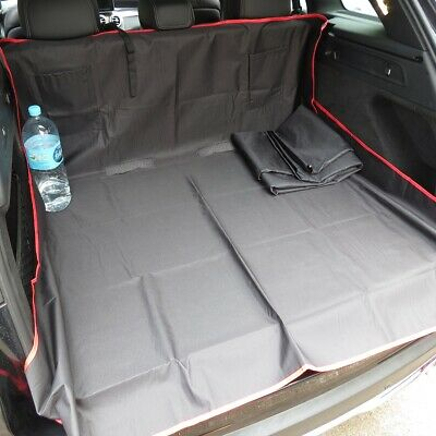 Car Boot Trunk Liner Heavy Duty Rear Seat Protector Pet Hammock Black & Red 3in1 • 8.99£