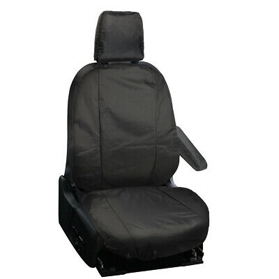 Single Ford Transit Custom 2013 On Fully Tailored Van Driver Seat Covers Black  • 20.95£