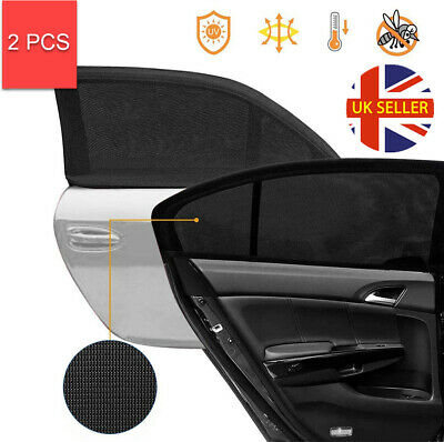2x Universal Car Sun Mesh Blind Rear Window UV Protector Sun Shade For Baby Kids • 5.45£