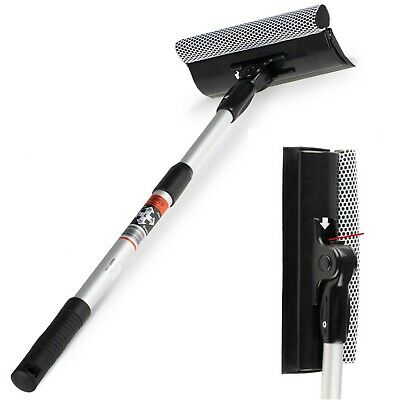Home Car Telescopic Windscreen Window Cleaning Squeegee Sponge 50-80cm • 14.99£