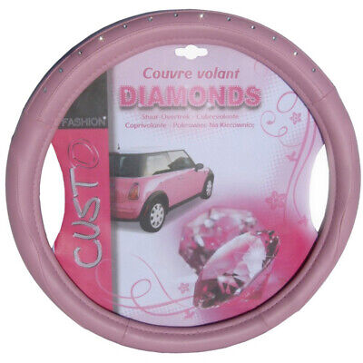 Universal Steering Wheel Cover Leather Steering Wheel Cover 36,5 - 38 Cm Pink Di • 14.99£