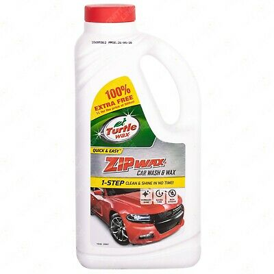 Turtle Wax Zip Wax Car Shampoo Concentrate Wash Clean Shine 60 Washes 1 Litre • 7.49£