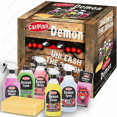 CarPlan Demon Car Exterior Tyres Wheels & Shampoo Cleaning Gift Pack • 23.99£