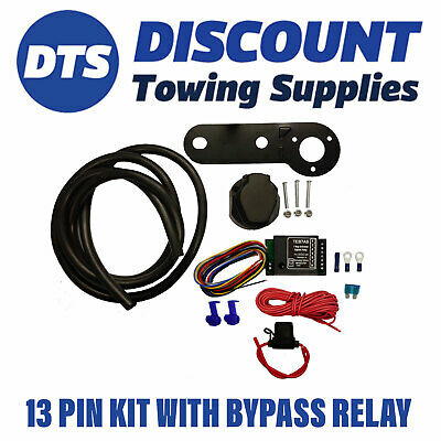 Universal 13 Pin Electric Towbar Wiring Kit Inc Bypass Relay • 42.45£