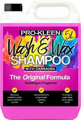 ProKleen Professional Wash And Wax Car Shampoo PH Neutral 5L Fast Delivery  • 14.99£