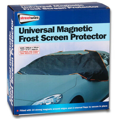 Large Car Magnetic Winter Ice Cold Frost Snow Windscreen Black Protector Cover • 10.99£