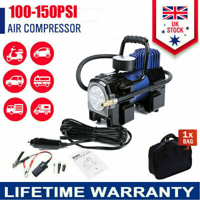 Heavy Duty 12v Electric Car Tyre Inflator 100psi Air Compressor Pump New • 26.99£