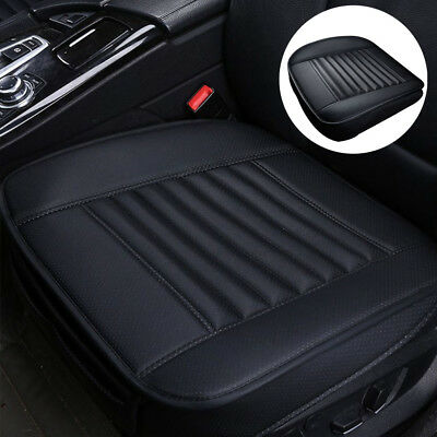 For Car Front Seat Black Cover Breathable Leather Cushion Chair Mat Pad Protect • 13.49£