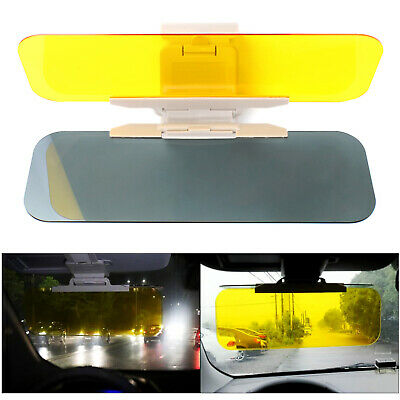 Car Sun Visor Shade Extender Clip On Day And Night Anti-glare Mirror UK • 7.99£