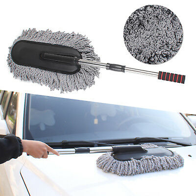 Scalable Microfiber Car Wash Cleaning Brush Duster Dust Wax Mop Dusting Tool UK • 6.99£