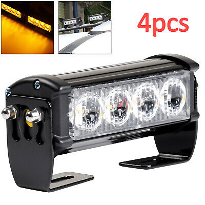 4× 12V/24V LED Recovery Strobe Car Truck Flashing Emergency Grille Bar Light • 20.59£