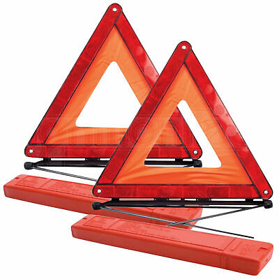 2 X Large Warning Car Triangle Reflective Road Emergency Breakdown Safety Hazard • 7.99£