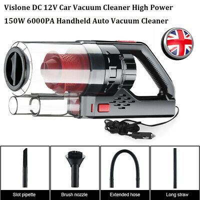 DC 12V Car Vacuum Cleaner High Power 150W 6000PA Wet/Dry Portable Handheld UK • 28.15£