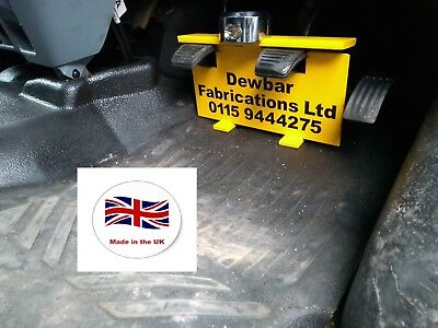 FORD TRANSIT CUSTOM PEDAL SECURITY LOCK Including LOCK - QUICK EASY FIT • 60£