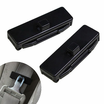 1 Pair Car Auto Seat Belt Adjuster Locking Stopper Safty Aid. Black. UK Supplier • 4.25£