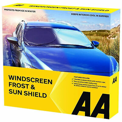 AA Car Windscreen Snow Frost Protector Shield Cover Ice Snow Anti-frost • 7.89£