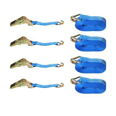4 X 25mm 5 Meters Ratchet Tie Down Straps 800KG Claws Lorry Lashing Handy Travel • 8.99£