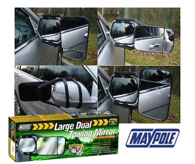 LARGE DUAL TOWING MIRROR GLASS WING MIRROR EXTENSION For CARAVAN (EU APPROVED) • 13.19£