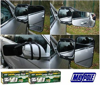 PAIR OF MAYPOLE LARGE DUAL TOWING MIRRORS GLASS WING EXTENSION For CARAVAN • 20.29£