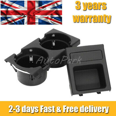 For BMW E46 325 328 330 1999-06 Center Console Drink Cup Holder Coin Storage UK3 • 15.58£
