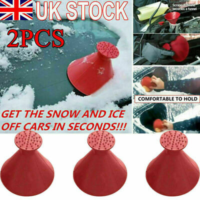 2X Magical Car Windshield Ice Snow Remover Scraper Tool Funnel Cone Shaped Round • 5.60£