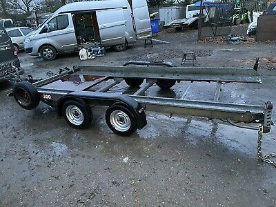 Fountain Car Transporter Trailer 14 X 7 Hydraulic Tipping/tilt Bed With Winch • 968£