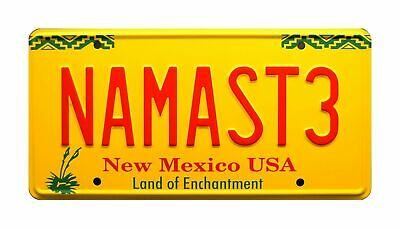 Celebrity Machines Better Call Saul | NAMASTE | Metal Stamped License Plate • 27.37£