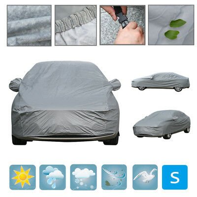 Heavy Duty Waterproof Car Cover Breathable Cotton Lined Small 2 Layer UV Protect • 23.51£