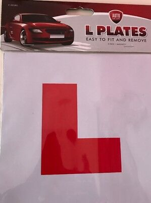 2x L Learner Driver Plate 2x P New Driver Just Passed Magnetic Driving Test 4 Pc • 3£