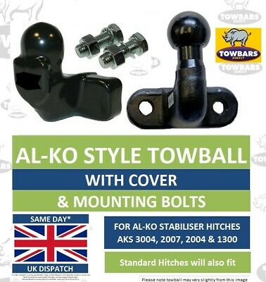 AL-KO Towball Tow Ball Kit For ALKO AKS Stabiliser Hitches With Cover Long Reach • 17.50£
