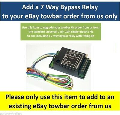 Bypass (interface) Relay 7 Way Universal Upgrade Kit TEB7AS Smart Relay • 20£