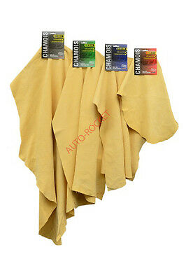 Genuine Real Leather Chamois Oil Tanned Cloth Chammy Car Drying & Cleaning • 3.99£