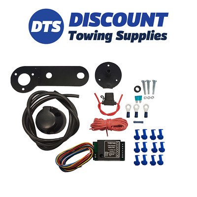 Universal Single 7 Pin Electric Towbar Wiring Kit Including Bypass Relay • 34.95£
