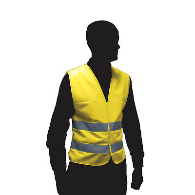 High Visibility Florescent Reflective Safety Vest Waistcoat Adult Hi Vis Yellow • 2.54£