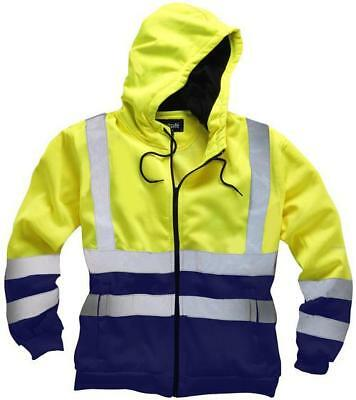 Standsafe - HV032YXLG - Hi Vis Hoodie Yellow/navy X Large 46/48  Chest • 29.59£