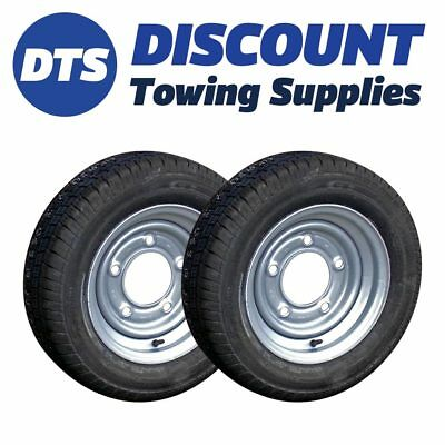 155/70R12 Kenda Master Trailer Wheels & Tyres (x2) 5 Stud 6.5  For Ifor Williams • 146.95£