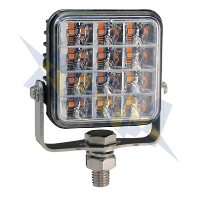 Durite 0-442-00 LED R65 Amber Warning Light Flashing Strobe Warning Lamp 12/24v • 21.99£