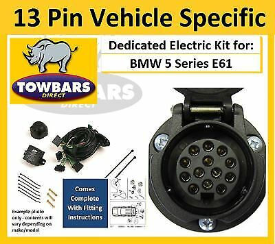 13 Pin Towbar Wiring Kit For BMW 5 Series E61 Tourer Estate Specific Electrics • 109£